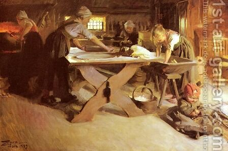 Brodbaket by Anders Zorn - Reproduction Oil Painting