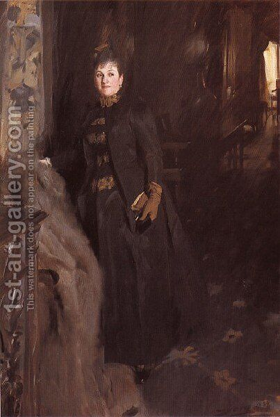 Madame Clara Rikoff by Anders Zorn - Reproduction Oil Painting