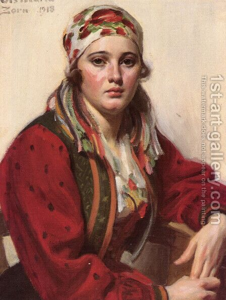 Ols Maria by Anders Zorn - Reproduction Oil Painting
