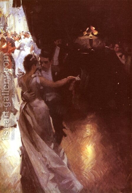 Valsen by Anders Zorn - Reproduction Oil Painting