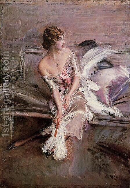 Portrait Of Gladys Deacon by Giovanni Boldini - Reproduction Oil Painting