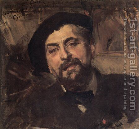 Portrait Of The Artist Ernest Ange Duez by Giovanni Boldini - Reproduction Oil Painting