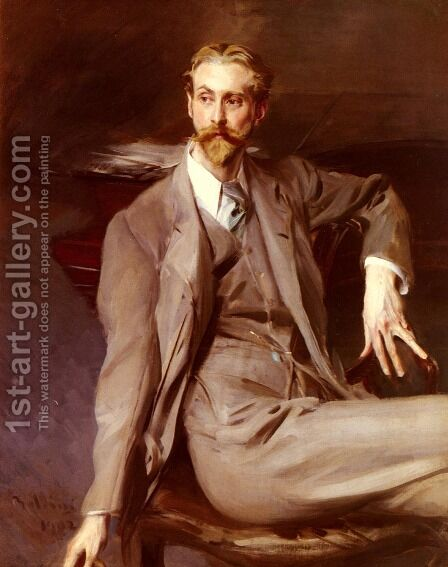 Portrait Of The Artist Lawrence Alexander (Peter) Harrison 1902 by Giovanni Boldini - Reproduction Oil Painting