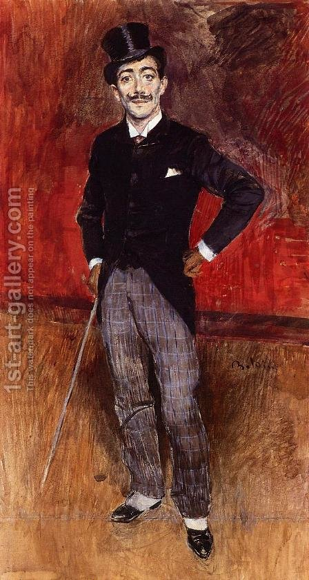 Portrait Of The Comte De Rasty by Giovanni Boldini - Reproduction Oil Painting