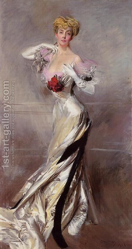 Portrait Of The Countess Zichy by Giovanni Boldini - Reproduction Oil Painting