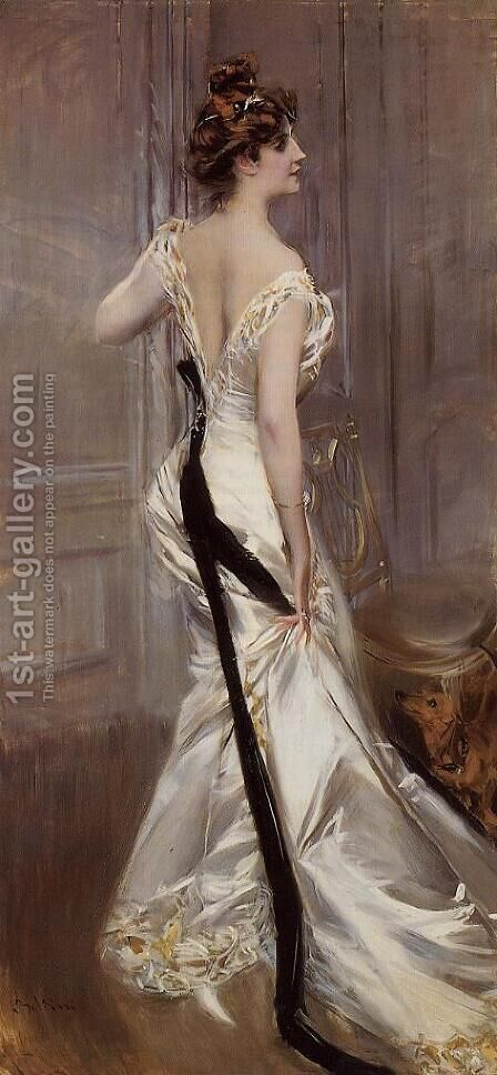 The Black Sash by Giovanni Boldini - Reproduction Oil Painting