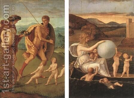 Four Allegories-Perseverance and Fortune c. 1490 by Giovanni Bellini - Reproduction Oil Painting