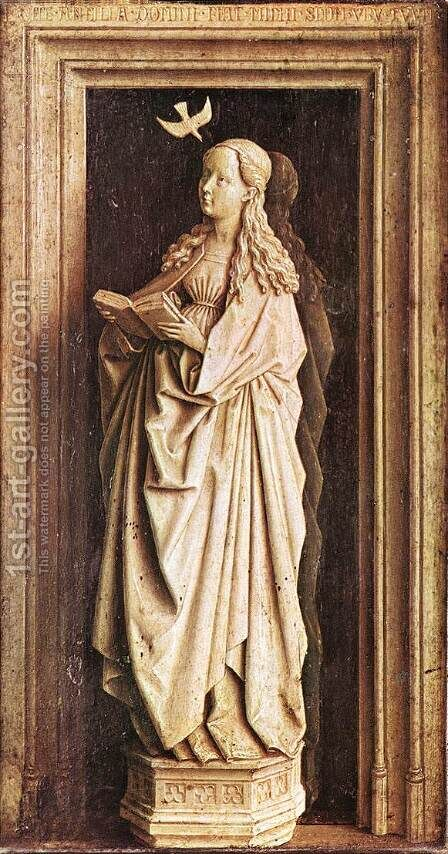 Annunciation (2) 1436 by Jan Van Eyck - Reproduction Oil Painting