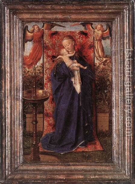 Madonna and Child at the Fountain 1439 by Jan Van Eyck - Reproduction Oil Painting