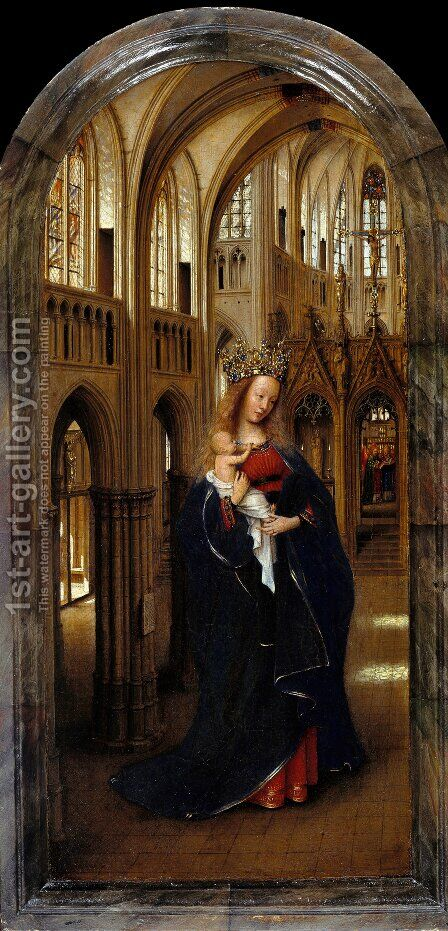 Madonna in the Church c. 1425 by Jan Van Eyck - Reproduction Oil Painting