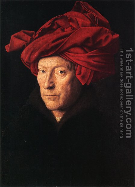 Man in a Turban 1433 by Jan Van Eyck - Reproduction Oil Painting