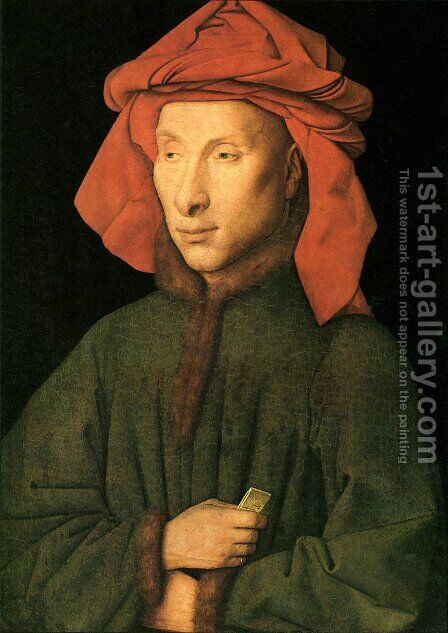 Portrait Of Giovanni Arnolfini by Jan Van Eyck - Reproduction Oil Painting