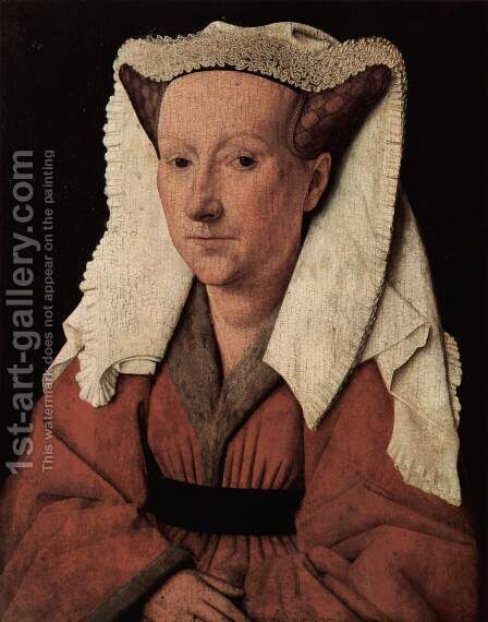 Portrait of Margareta van Eyck 1439 by Jan Van Eyck - Reproduction Oil Painting
