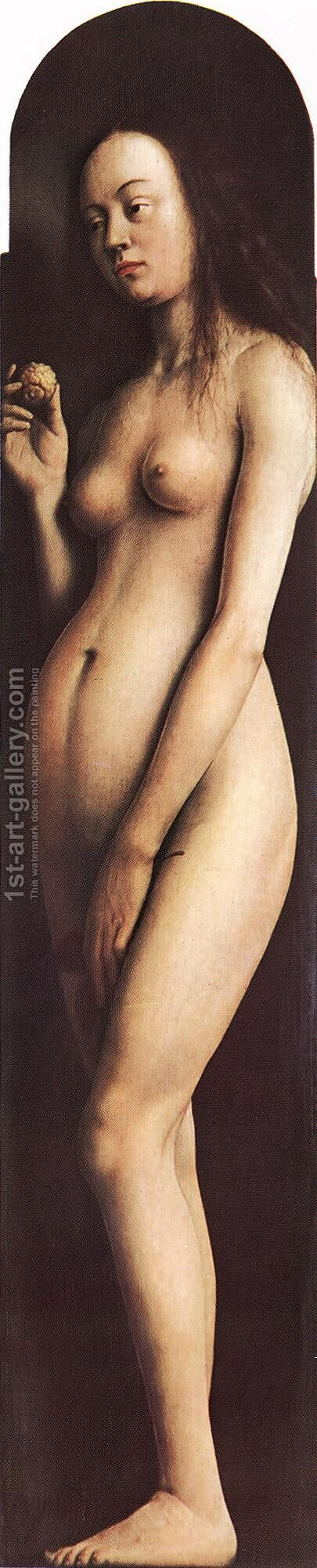 The Ghent Altarpiece- Eve 1425-29 by Jan Van Eyck - Reproduction Oil Painting