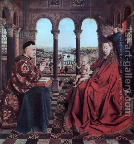 The Virgin Of Chancellor Rolin by Jan Van Eyck - Reproduction Oil Painting