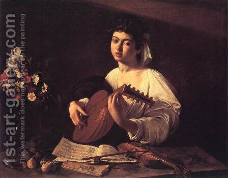 Lute Player c. 1596 by Caravaggio - Reproduction Oil Painting