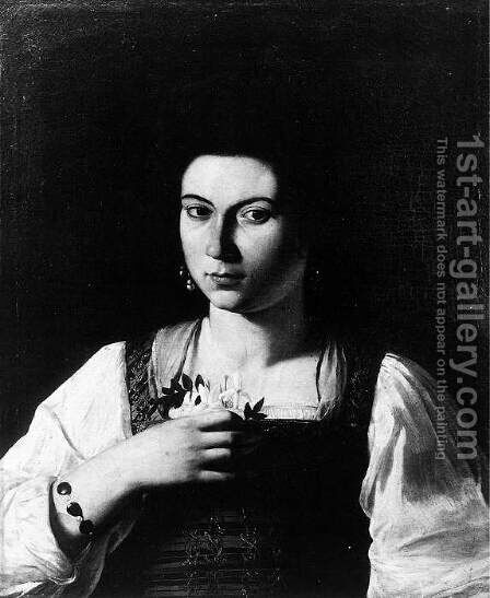 Portrait of a Courtesan c. 1598 by Caravaggio - Reproduction Oil Painting