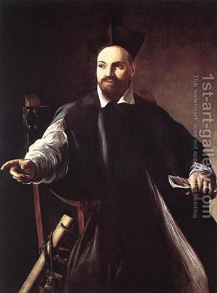 Portrait of Maffeo Barberini 1599 by Caravaggio - Reproduction Oil Painting