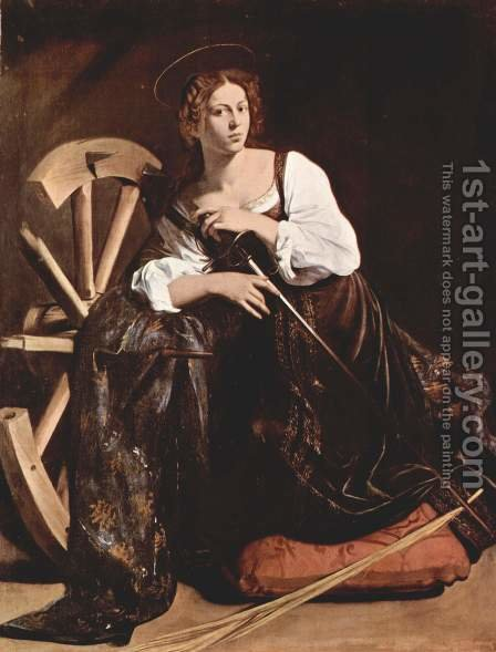 St Catherine of Alexandria c. 1598 by Caravaggio - Reproduction Oil Painting
