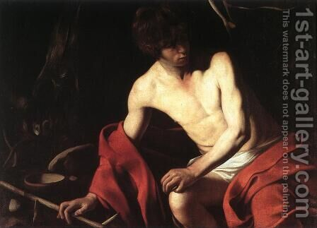 St. John the Baptist 1603-04 by Caravaggio - Reproduction Oil Painting