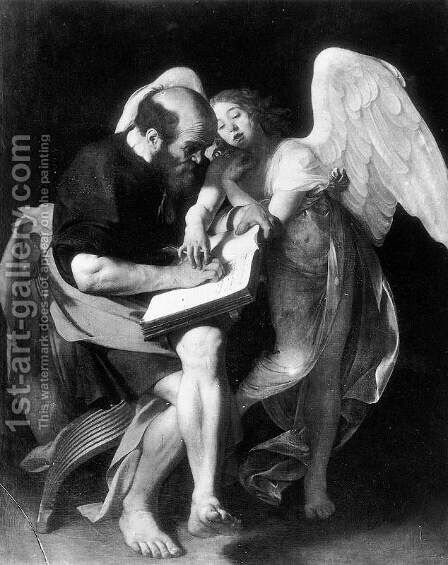 St. Matthew and the Angel 1602 by Caravaggio - Reproduction Oil Painting