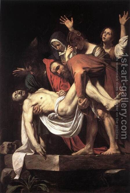 The Entombment 1602-03 by Caravaggio - Reproduction Oil Painting