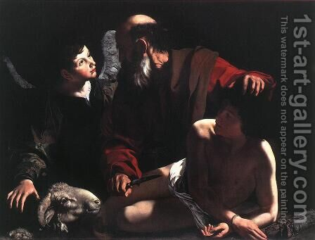 The Sacrifice of Isaac c. 1605 by Caravaggio - Reproduction Oil Painting