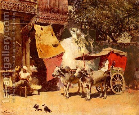 An Indian Gharry by Edwin Lord Weeks - Reproduction Oil Painting