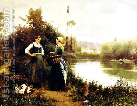 On The Way To Market by Daniel Ridgway Knight - Reproduction Oil Painting