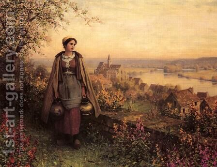 Springtime by Daniel Ridgway Knight - Reproduction Oil Painting