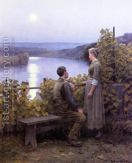 Summer Evening by Daniel Ridgway Knight - Reproduction Oil Painting