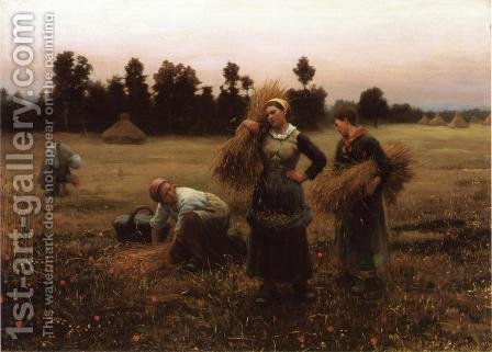 The Harvesters by Daniel Ridgway Knight - Reproduction Oil Painting