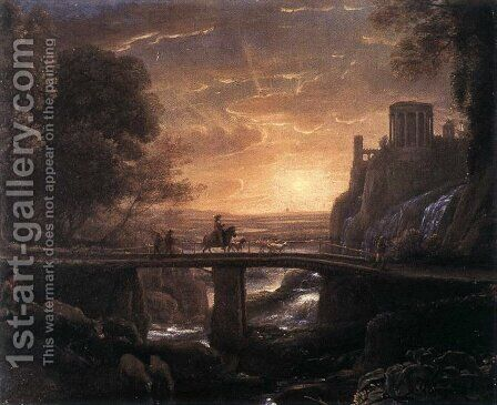 Imaginary View of Tivoli 1642 by Claude Lorrain (Gellee) - Reproduction Oil Painting