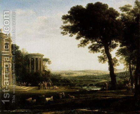 Landscape With A Sacrifice To Apollo by Claude Lorrain (Gellee) - Reproduction Oil Painting