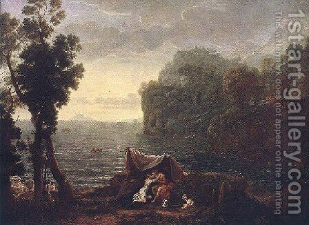 The Landscape With Acis And Gala by Claude Lorrain (Gellee) - Reproduction Oil Painting