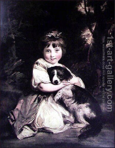 Love Me  Love My Dog by Sir Joshua Reynolds - Reproduction Oil Painting