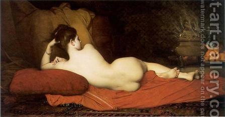 Odalisque by Jules Joseph Lefebvre - Reproduction Oil Painting