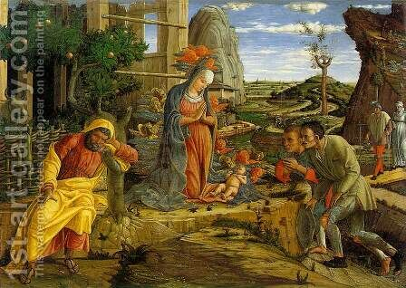 Adoration Of The Shepherds by Andrea Mantegna - Reproduction Oil Painting