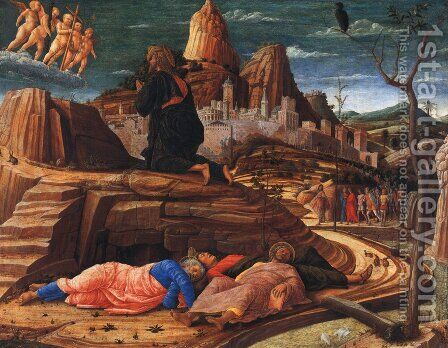 Agony in the Garden c. 1459 by Andrea Mantegna - Reproduction Oil Painting