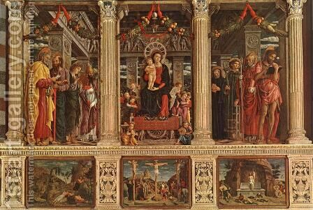 Altarpiece by Andrea Mantegna - Reproduction Oil Painting