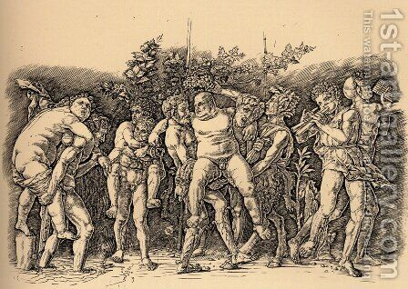 Bacchanal With Silenus by Andrea Mantegna - Reproduction Oil Painting