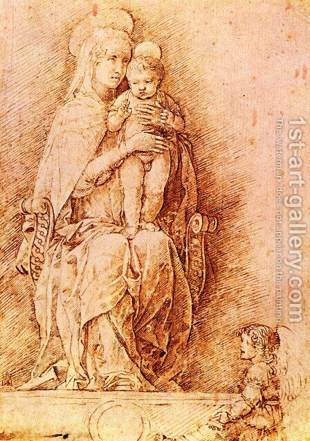 Madonna And Child by Andrea Mantegna - Reproduction Oil Painting