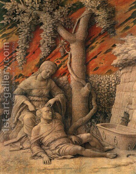 Samson and Delilah by Andrea Mantegna - Reproduction Oil Painting