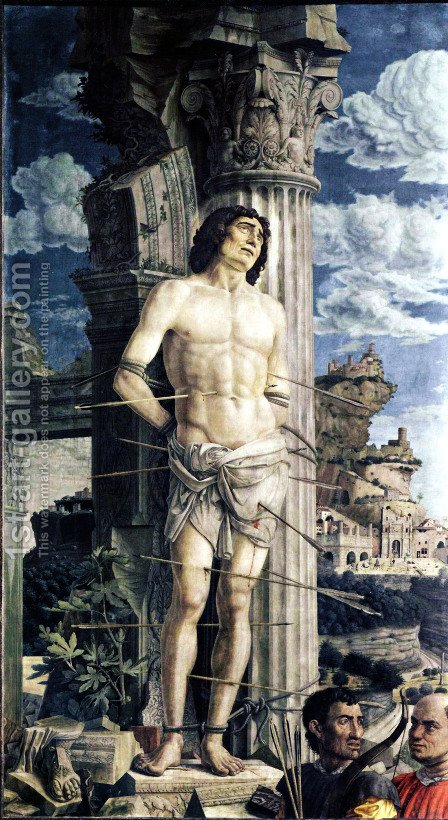 St Sebastian 1456-59 by Andrea Mantegna - Reproduction Oil Painting