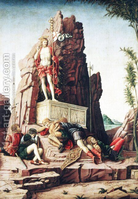 The Resurrection by Andrea Mantegna - Reproduction Oil Painting