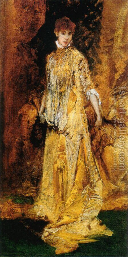 Sarah Bernhardt by Hans Makart - Reproduction Oil Painting