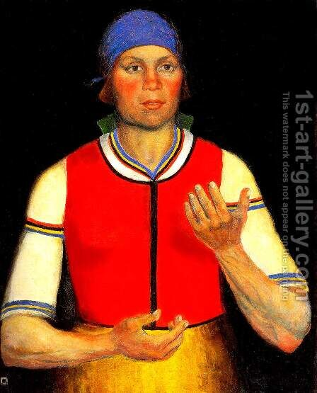 Female Worker by Kazimir Severinovich Malevich - Reproduction Oil Painting