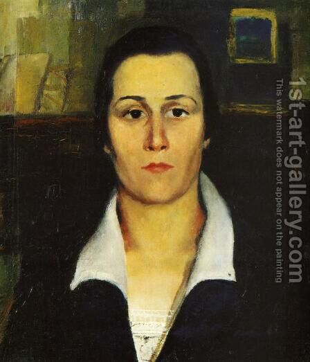 Portrait Of A Woman by Kazimir Severinovich Malevich - Reproduction Oil Painting