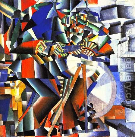 The Knife Sharpener by Kazimir Severinovich Malevich - Reproduction Oil Painting