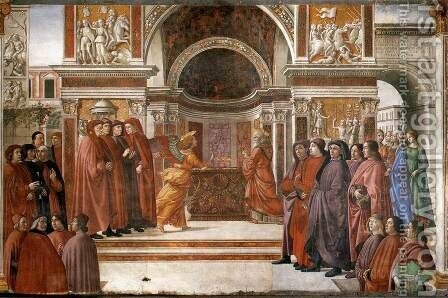 Angel Appearing To Zacharias by Domenico Ghirlandaio - Reproduction Oil Painting